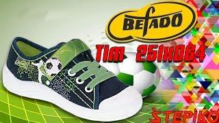Детские текстильные кеды Befado TIM 251x064 . Видео обзор от STEPIKO.COM