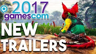 Top 6 AMAZING New Game Trailers From Gamescom 2017 (MUST SEE Gameplay Trailers for PS4 Xbox One PC)