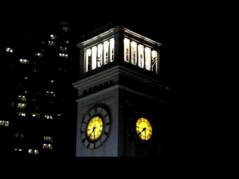 Ferry Building Clock Tower at Night San Francisco California