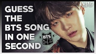 Guess the bts song in 1 second   kpop challenge