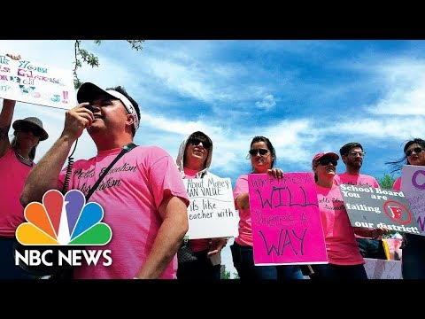 Pueblo, Colorado Teachers Join Strike: 'Stop Starving Your Teachers' | NBC News
