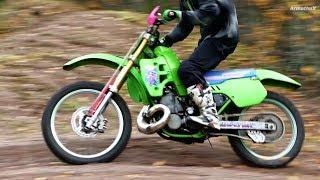Kawasaki KX500 -90 2-Stroke Autumn Riding (Raw Sounds)