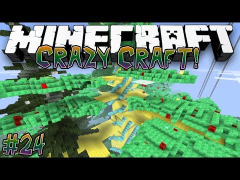 """Tree of Gold!"" - CRAZY CRAFT (MINECRAFT MODDED SURVIVAL) - #24"