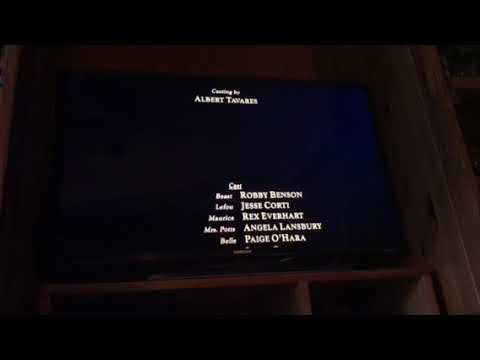 Anna and Elsa beauty and the beast end credits