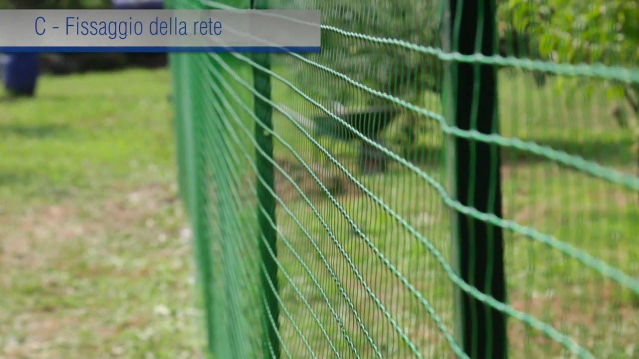 Rete da recinzione in plastica installazione tecnica for Recinzione per cani da esterno