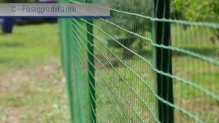 Rete da recinzione in plastica - Installazione tecnica