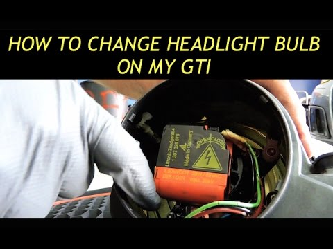 How To Replace Headlight Bulb On A Mk5 Gti