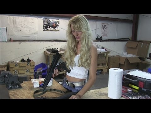 Country Girl Bunny Hunter field strips and cleans a full auto HK MP5
