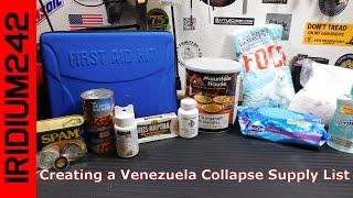 Creating A Venezuela Collapse Supply List