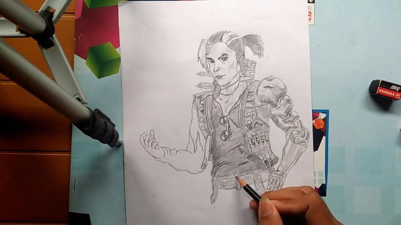Cara Menggambar Karakter Gambar Sketsa Free Fire Keren