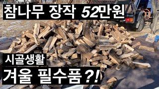 참나무 절단목(쪼개목)52만원이면 이 정도 됩니다