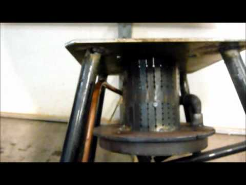 How to make a waste oil heater funnydog tv for Heater that burns used motor oil