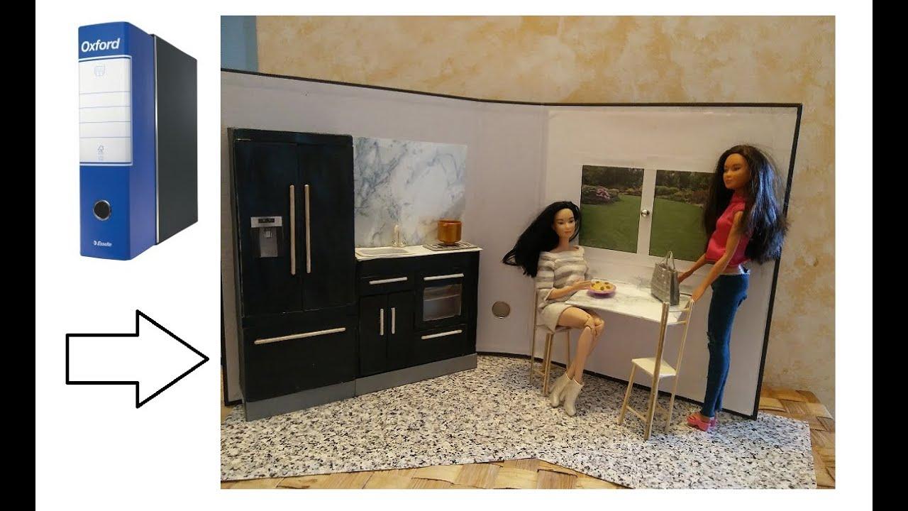 Come creare una cucina per Barbie - DIY how to make a kitchen for ...
