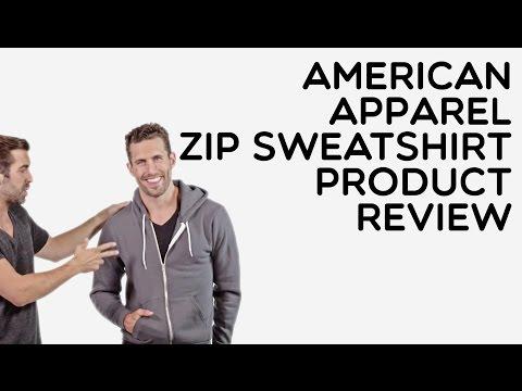 Custom American Apparel Full Zip Hooded Sweatshirt