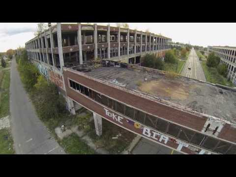 Packard Plant Ruin Porn - Detroit Drone Aerial Video -'What's Going On' Marvin Gaye
