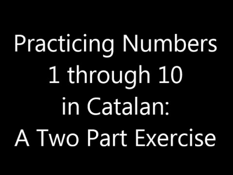 Counting from 1 to 10 in Catalan: Language Flashcards
