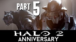 Halo 2 Anniversary Walkthrough Part 5 - THE ORACLE (Mission 7) Master Chief Collection - 60fps