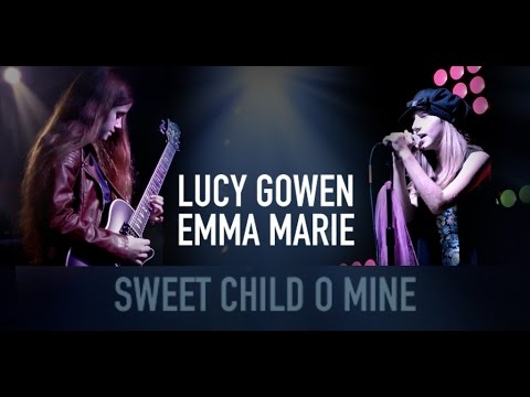 Sweet Child O Mine Music Cover: Lucy Gowen 10 year old guitarist & Emma Marie 10 year old singer