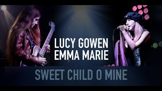 sweet child o mine music cover lucy gowen 10 year old guitarist emma marie 10 year old singer