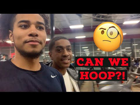 HOOPING WITH TRASH TALKERS AT THE GYM!!! CAN WE HOOP?!