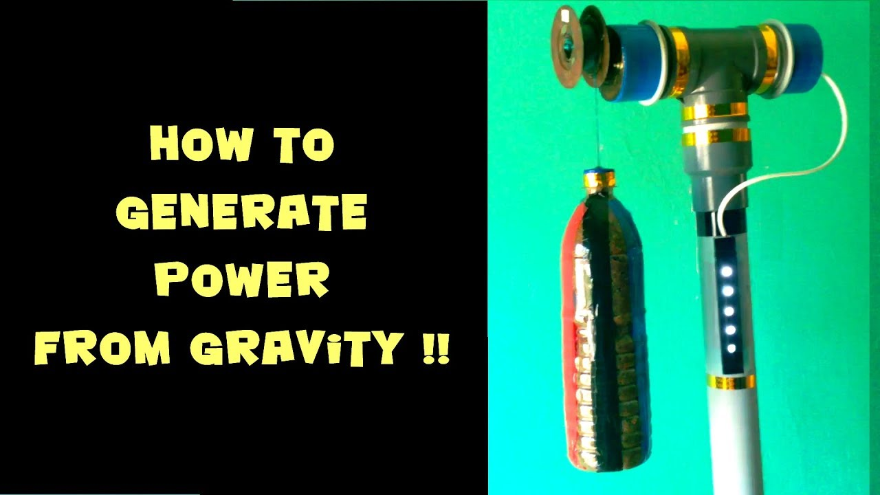 Gravity Led Lights Power Generation From Eee Mini Simple Project On Hydro Electric Station With Turbine Modal Science Working Model