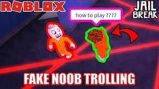 FAKE NOOB Undercover Voice Chat TROLLING | Roblox Jailbreak