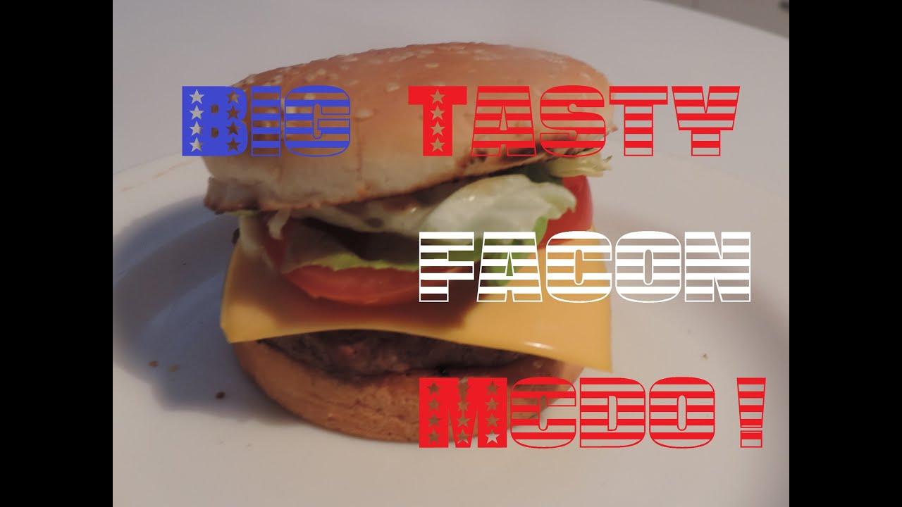 Assez ❥ 03 - Recette du big tasty façon Mcdo - YouTube WL48