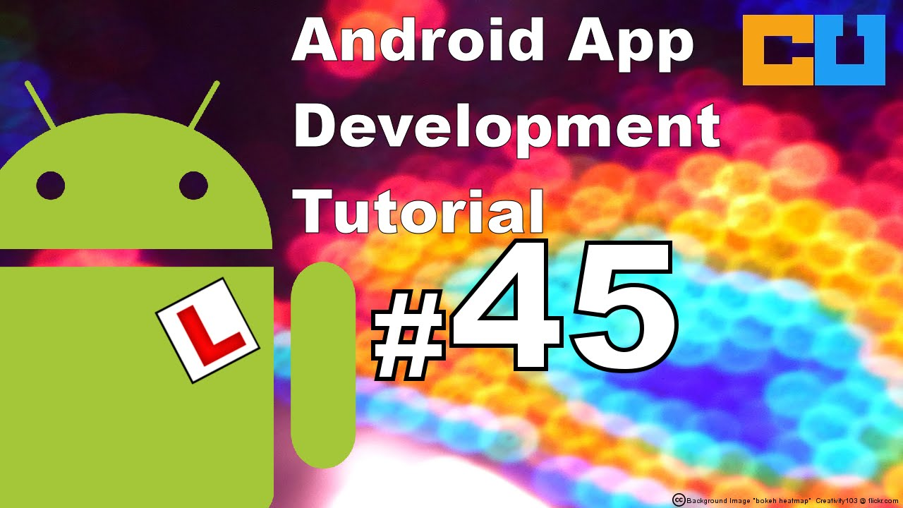 Android Tutorial #45 Animation (11\12) Canvas, draw path , circle and  bitmap image