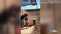 Raw video: Moments before girl shot instructor with Uzi