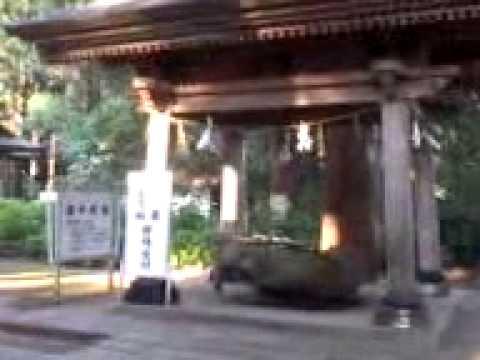 会津の大鎮守 心清水八幡神社にて