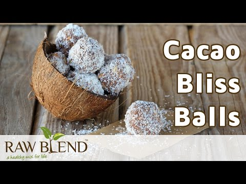 How To Make Bliss Balls (Cacao Recipe) In The Vitamix 5200 Blender