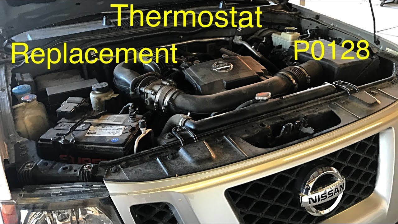 Nissan XterraFrontier Thermostat Replacement (p0128) The Right Way  YouTube