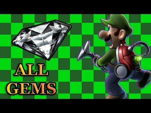 Luigi's Mansion Dark Moon - All Gem Locations (Complete Guide)