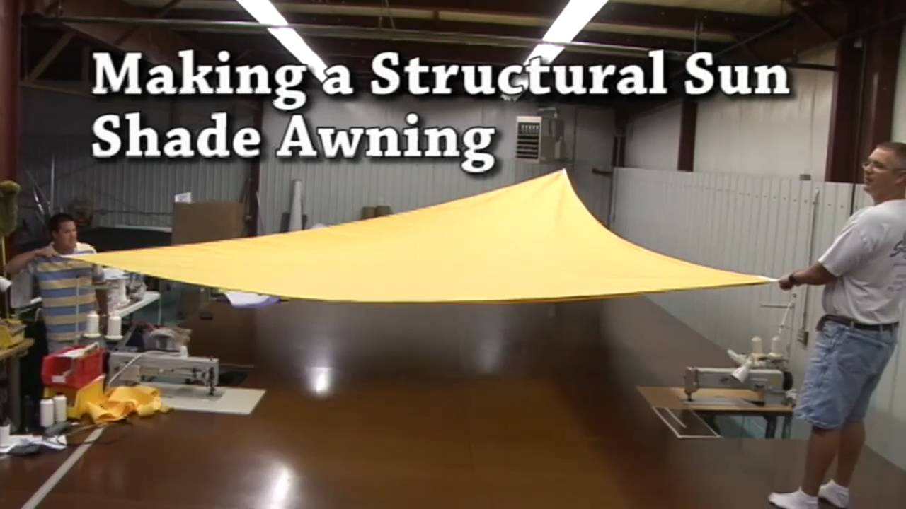 Building A Structural Awning Sail Shades Triangular Awning Youtube