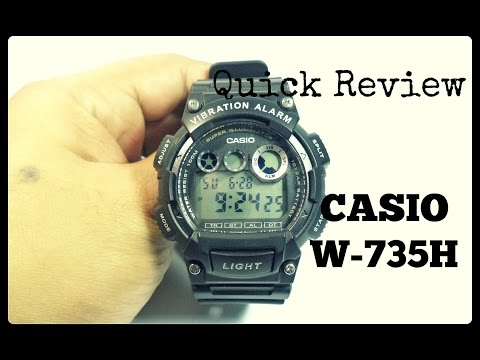 Quick Review Casio W-735H