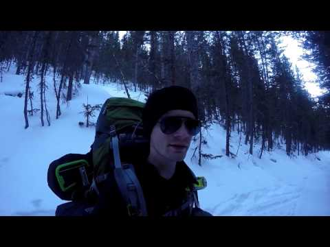 Solo bushcraft/snowshoeing trip in Pike Forest, Colorado