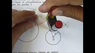 Circunferencia tangente exterior a dos circunferencias