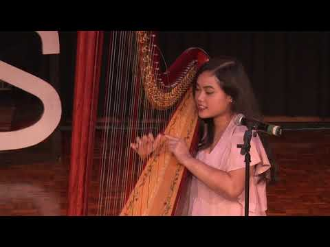 Vocal and harp performance | Fania Muthia | TEDxJIS