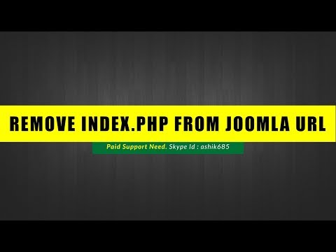 Remove index.php from joomla website url