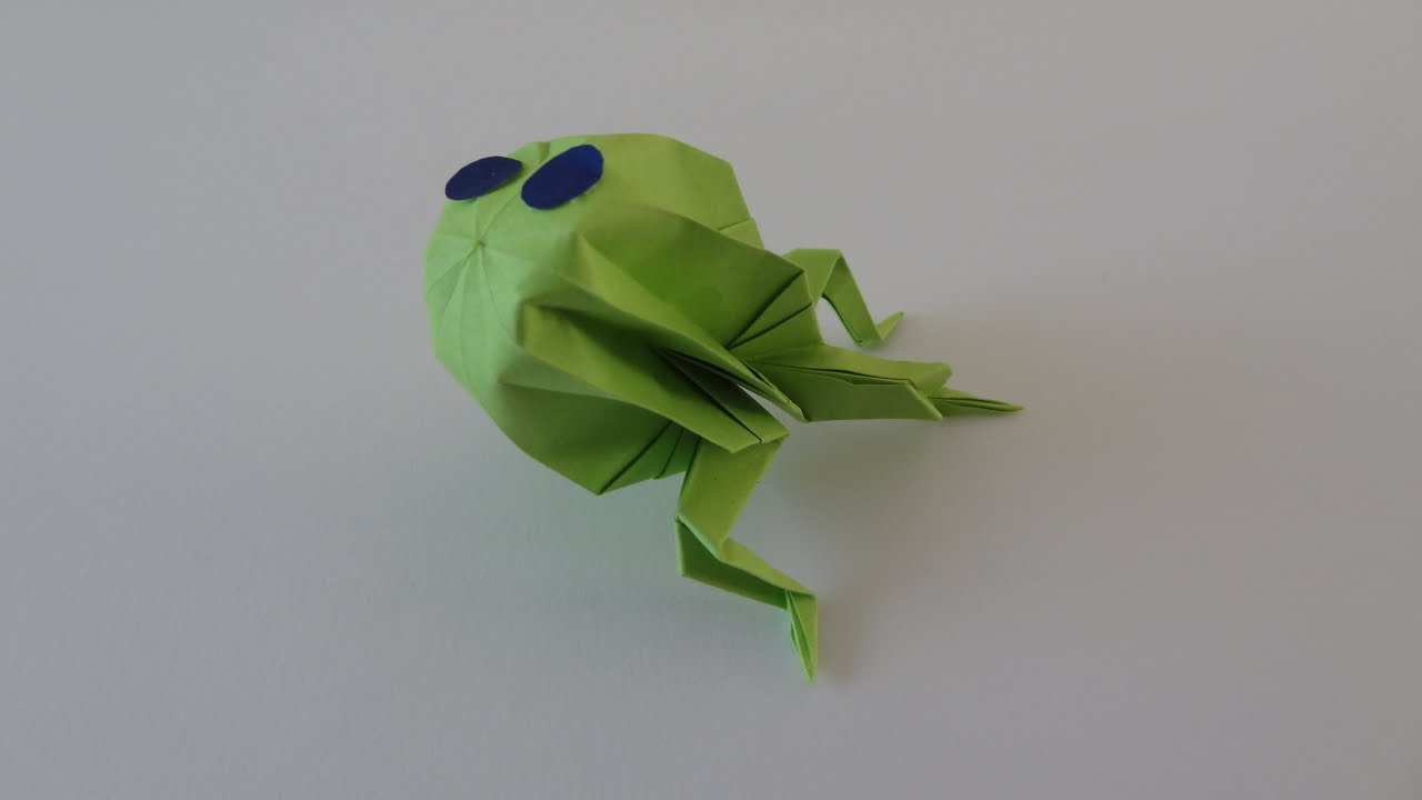 How to make an Origami Inflatable Frog - YouTube - photo#9