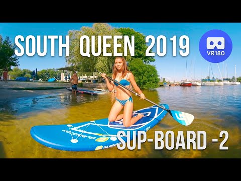 VR180 3D. South Queen 2019. Swimsuits Bikini Models And Sup Boards. Part 2