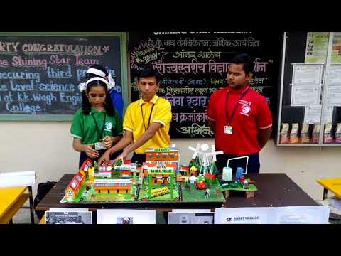 Shining Star Academy secured third prize in State Level Science Exhibition held at K.K.Wagh college,