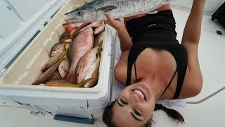 Catching Our Dinner for Weeks! Reef Fishing South Florida