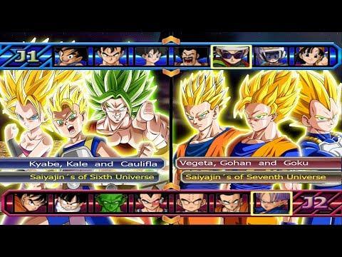Saiyajins of Sixth Universe VS Saiyajins of Serventh Universe - Dragon Ball Z Budokai Tenkaichi 3