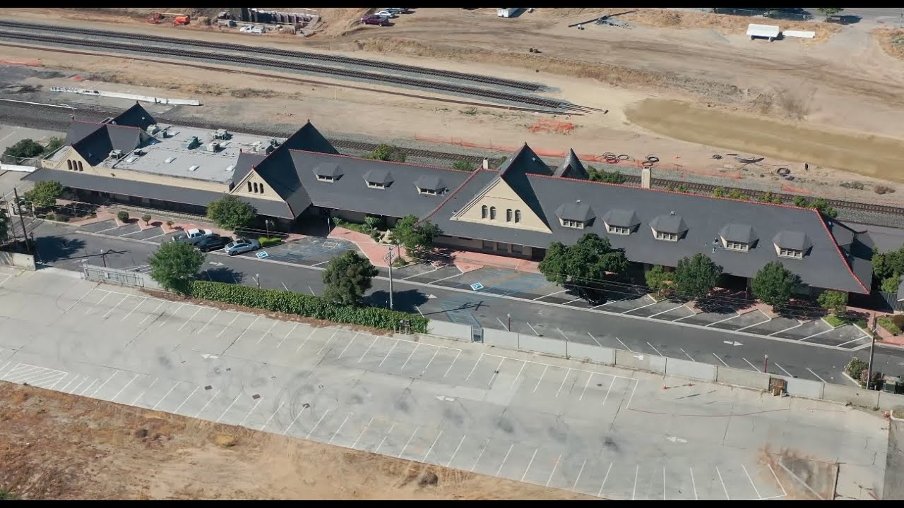 HSR Drone – Future High-Speed Rail Station in Downtown Fresno