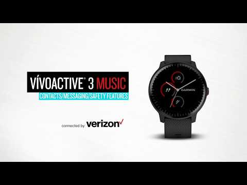 vívoactive 3 Music — Connected by Verizon: Messaging and Safety Features