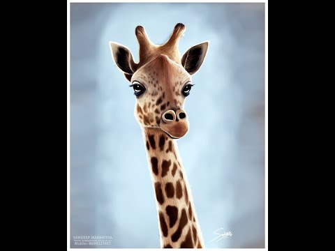 how to create a Giraffe in Photoshop | digital painting tutorial