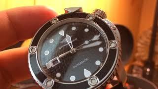 видео Часы Полет Буран 310579/3421891 мужские механические наручные часы.