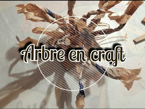 Tutod co 2 arbre en papier kraft sac youtube - Fabriquer un arbre genealogique original ...
