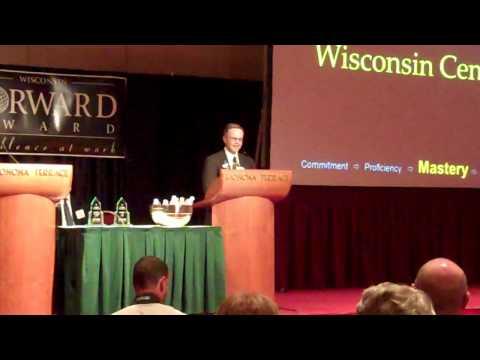 Central Wisconsin Center Accepting Wisconsin Forward Award